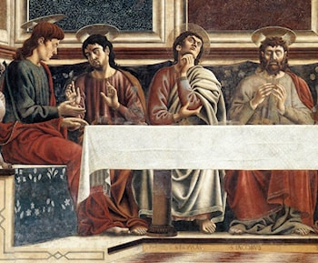 Last Supper [detail] by Andrea del Castagno